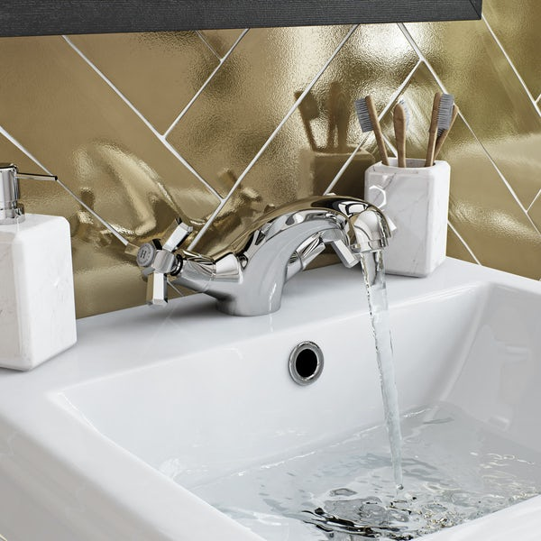 The Bath Co. Beaumont basin mixer and bath pillar tap pack