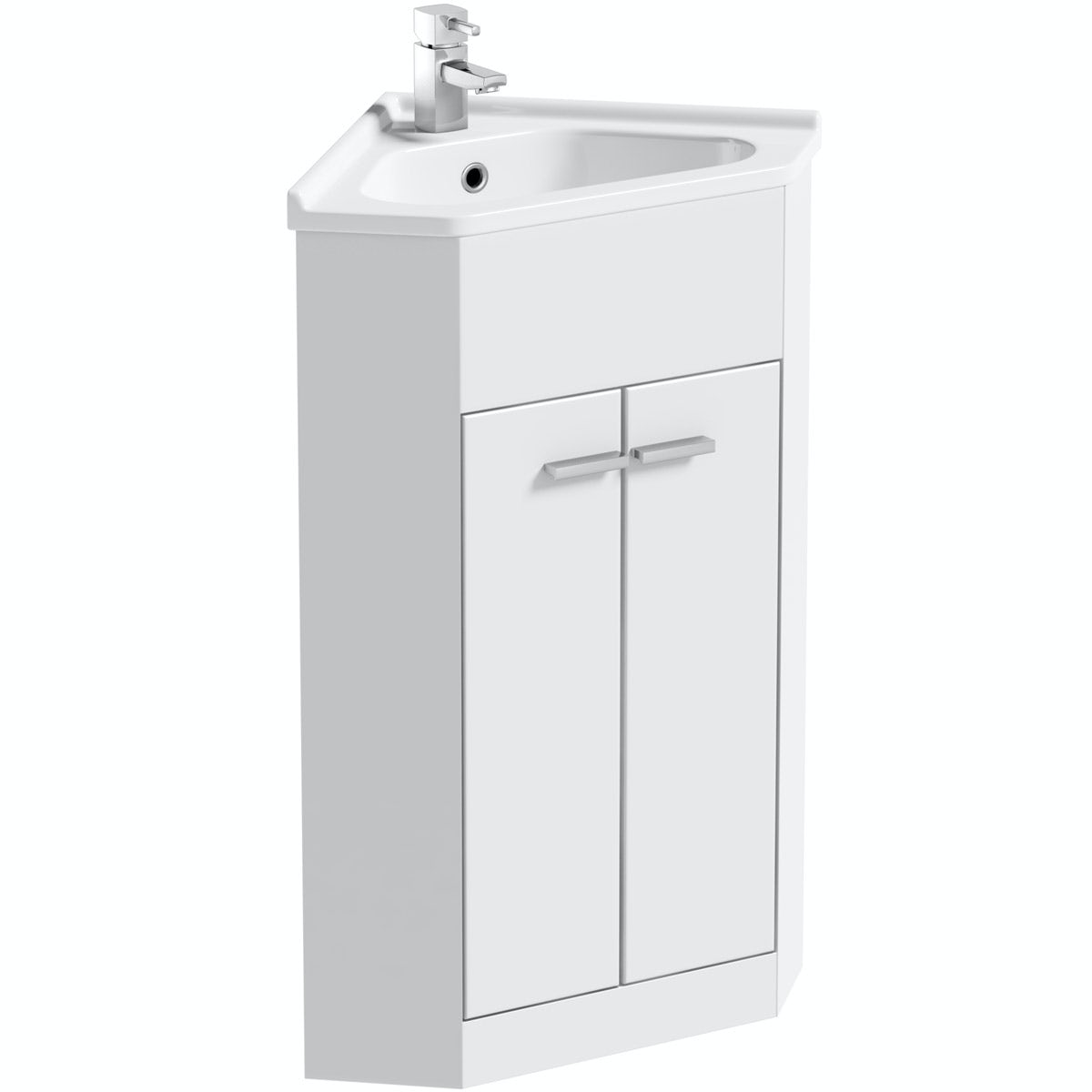 Orchard Compact white corner vanity unit