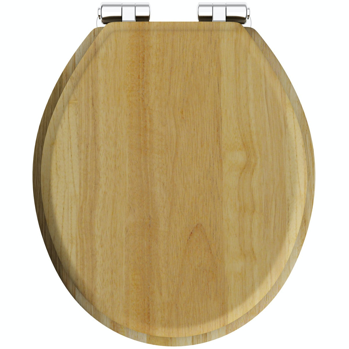The Bath Co. traditional solid oak toilet seat with top fixing soft close quick release hinge