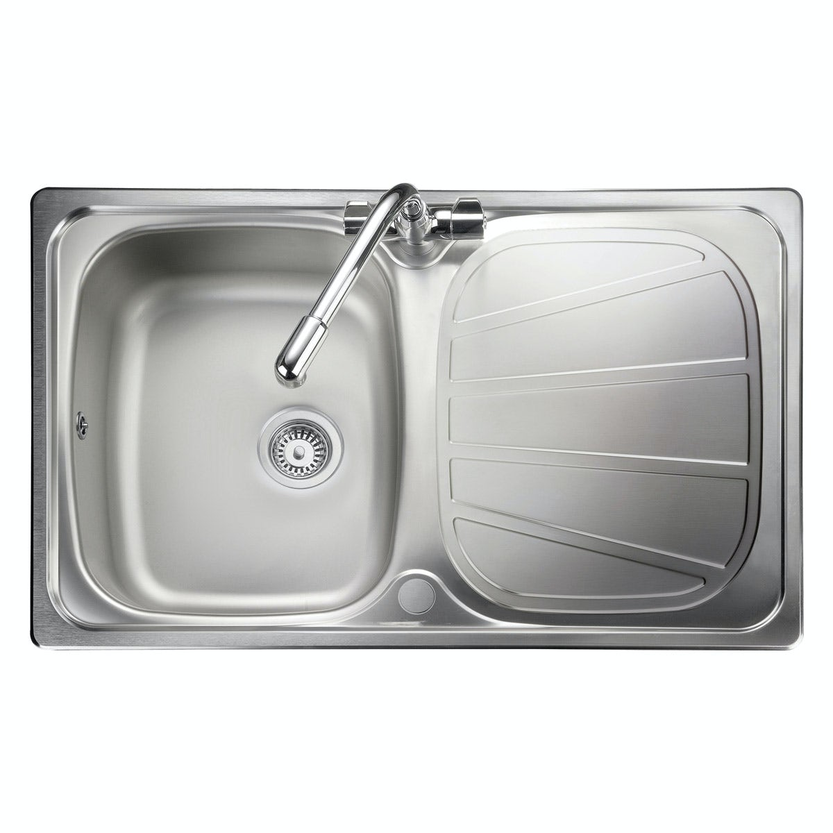 Rangemaster Baltimore 1.0 bowl compact reversible kitchen sink with waste