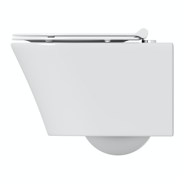 Mode Tate wall hung toilet inc slimline soft close toilet seat