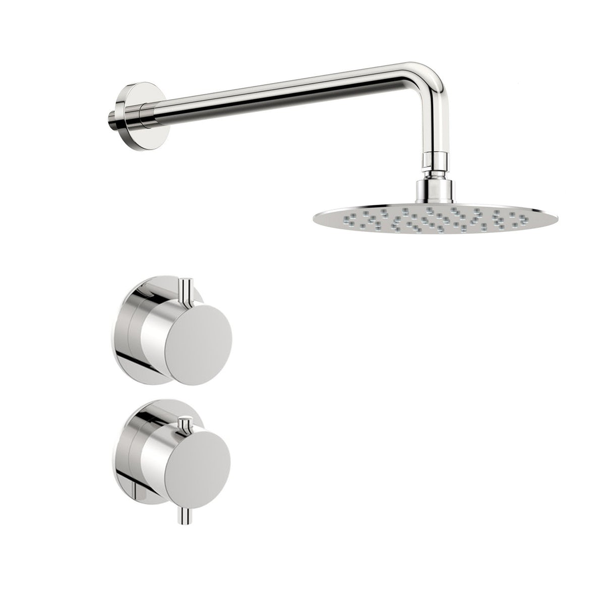 Mode Hardy thermostatic shower valve with wall shower set