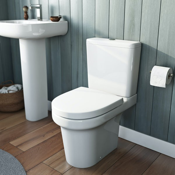 Mode Burton close coupled toilet with soft close seat