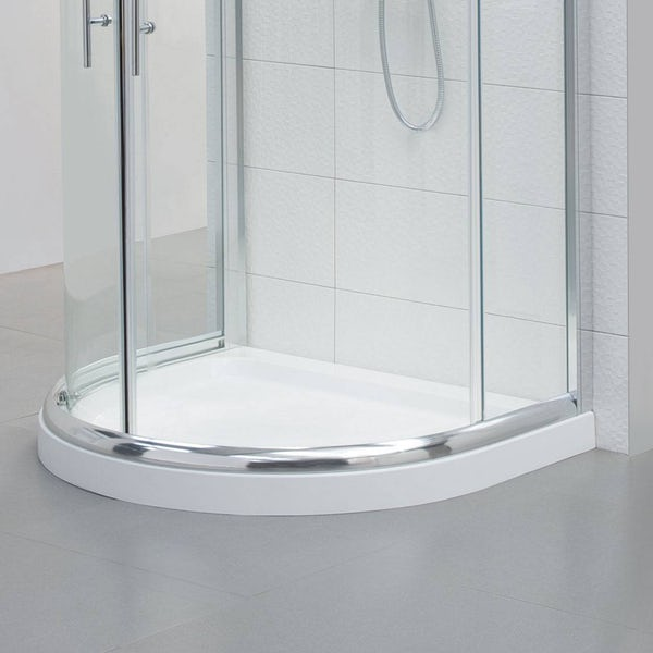 Orchard D shaped stone shower tray | VictoriaPlum.com