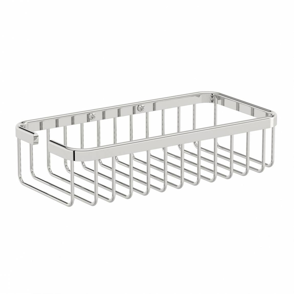 Orchard Options brass single rectangular shower caddy