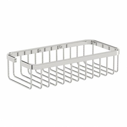 Options Brass Wall Mounted Rectangular Basket
