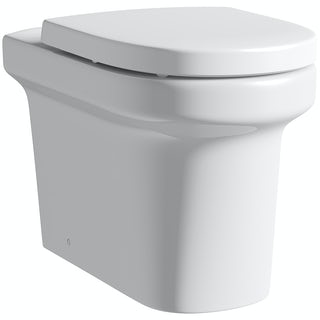 Mode Burton back to wall toilet with soft close seat