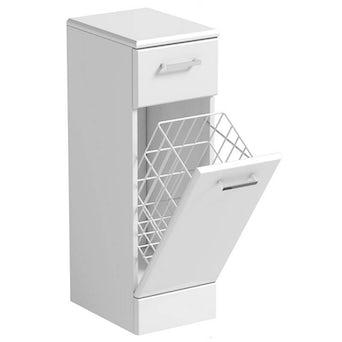 Sienna White Linen Basket 330