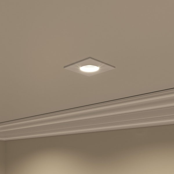 Forum IP65 square downlight in white