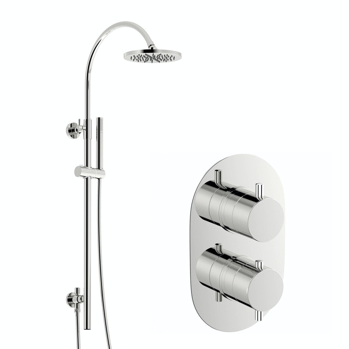Mode Harrison thermostatic shower valve with wall riser rail set