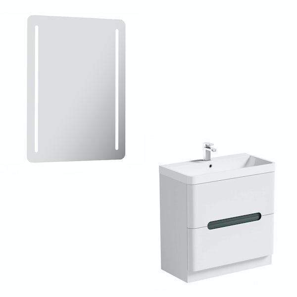 Mode Ellis slate vanity unit 800mm and mirror offer