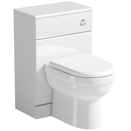 Orchard Eden white slimline back to wall unit and toilet with seat