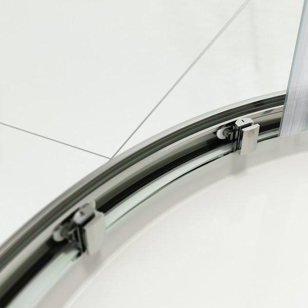 Mode Rand 8mm easy clean sliding offset quadrant shower enclosure offer pack