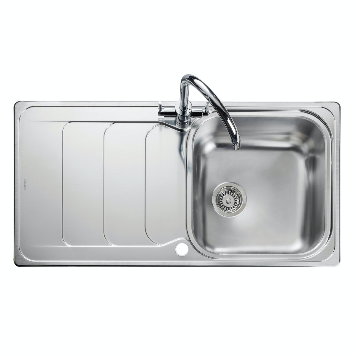 Rangemaster Houston 1.0 bowl reversible kitchen sink with waste kit
