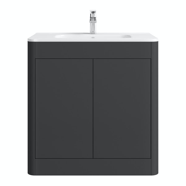 Mode Carter slate vanity unit and basin 800mm