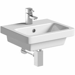 Verso 1 tap hole wall hung basin 400mm offer pack