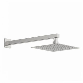 Arcus 200mm Shower Head & Square Wall Arm