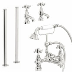 Coniston basin tap and freestanding bath shower filler tap pack