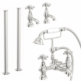 The Bath Co. Coniston basin tap and freestanding bath shower filler tap pack