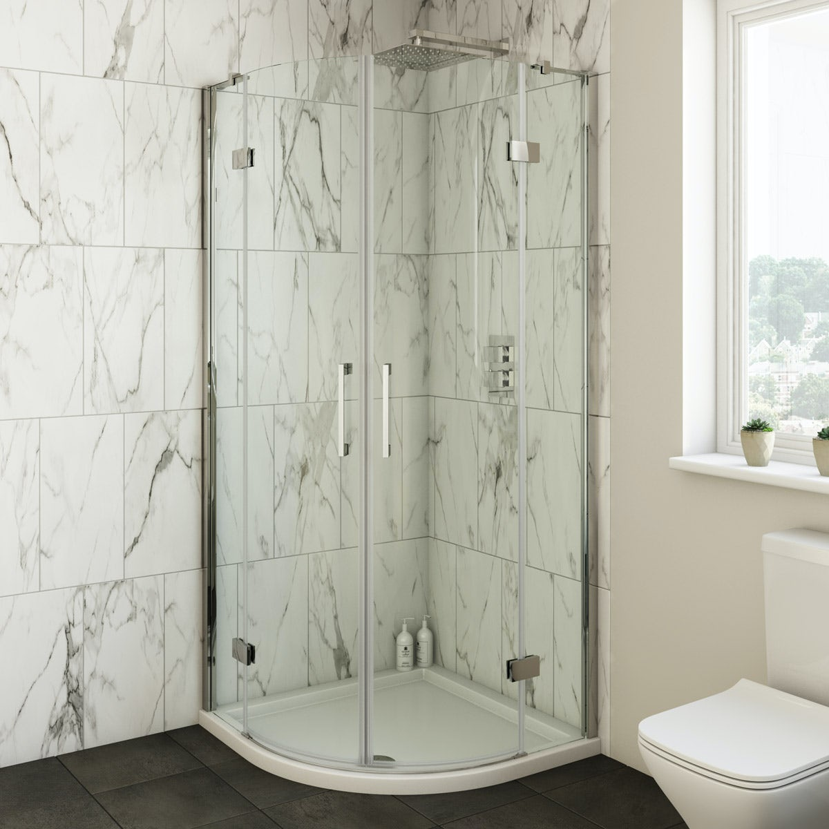 Mode Cooper premium 8mm easy clean quadrant shower enclosure 900 x 900