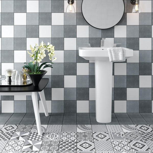 Ted Baker VersaTile dark grey wall and floor tile 148mm x 148mm