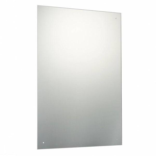 Rectangular Bevelled Edge Drilled Mirror 60x90cm