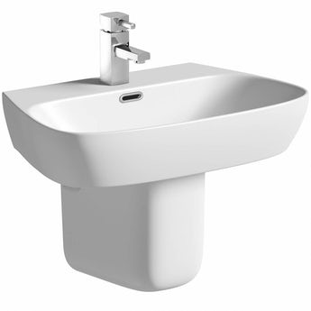 Mode Princeton semi pedestal basin 600mm with waste