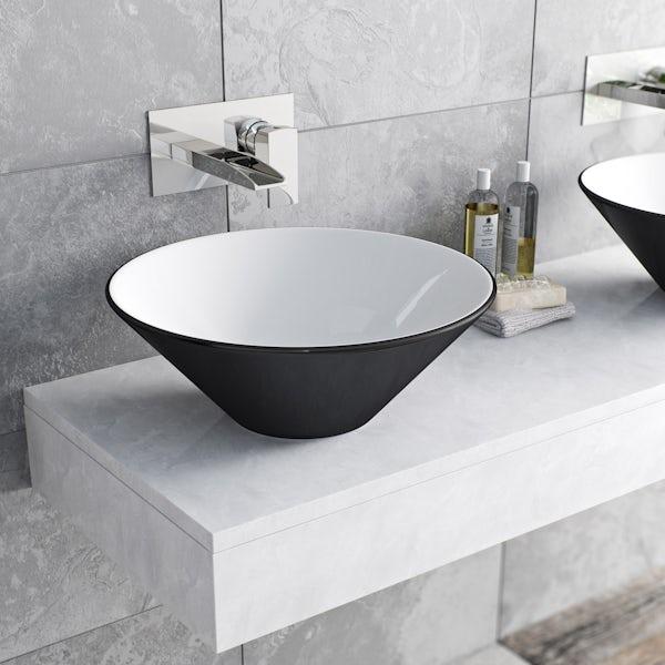 Mode Cooper wall mounted waterfall basin mixer tap