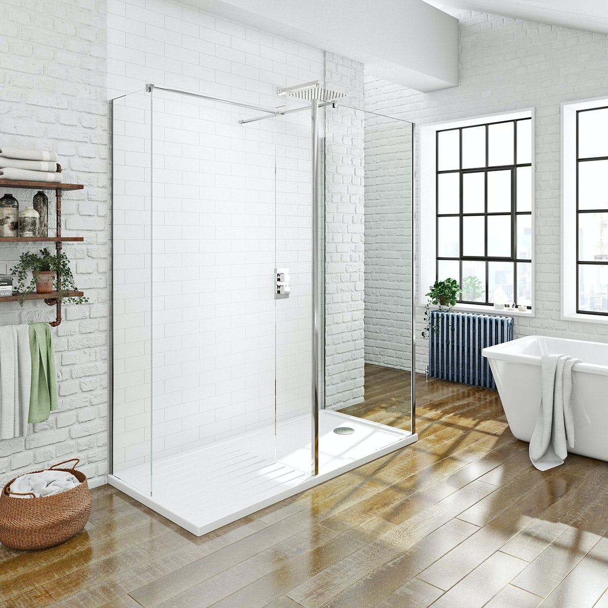 Walk In Shower Enclosure Mode Spacious Luxury 8mm 3 Sided Walk In Shower Enclosure With