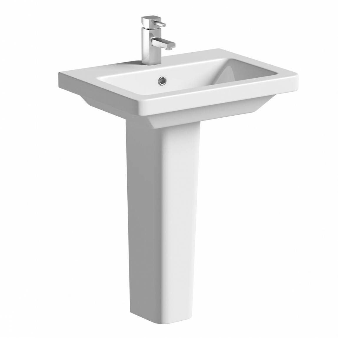Mode Cooper 1 tap hole full pedestal basin 600mm with waste