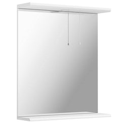 Sienna white bathroom mirror with lights 650mm