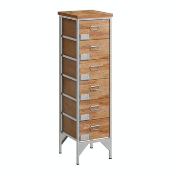 Reeves Sawyer 6 drawer tall apothecary chest