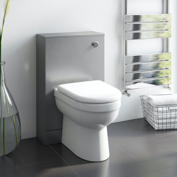 Orchard Derwent grey back to wall unit with Eden back to wall toilet