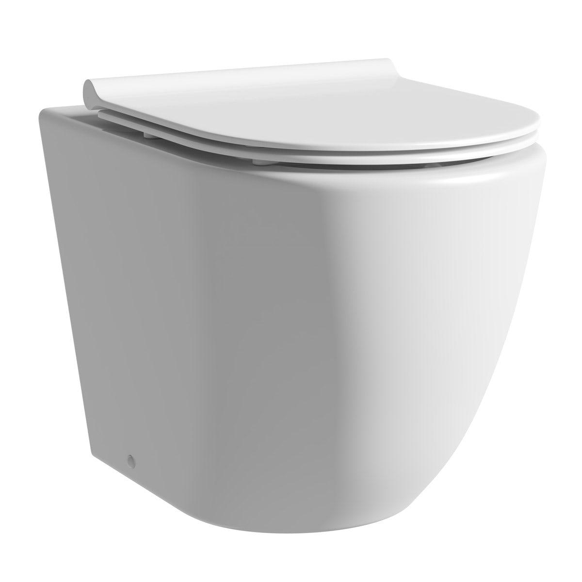 Mode Harrison back to wall toilet inc slimline soft close seat