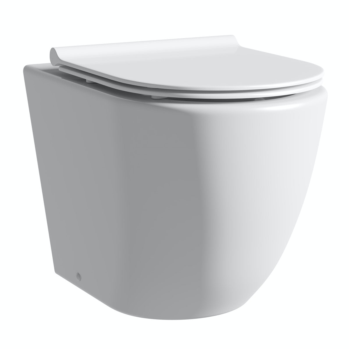 Mode Harrison rimless back to wall toilet with slimline soft close seat