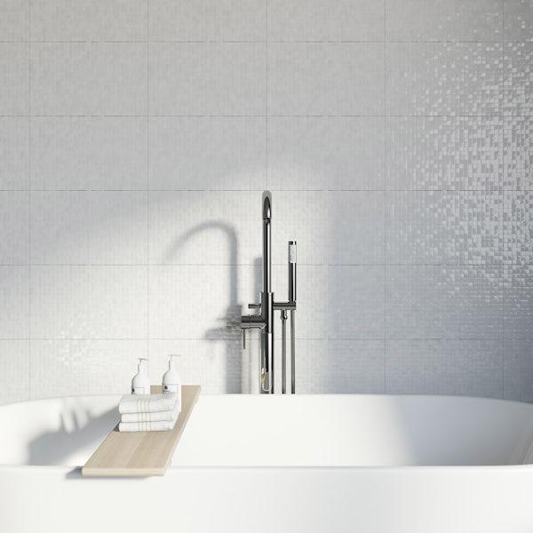 Studio Conran hartland white pressed mosaic tile 248mm x 398mm