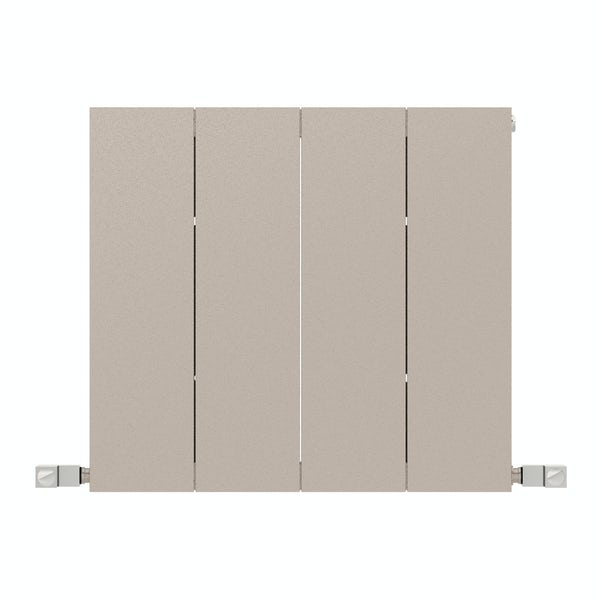 Neo oyster grey horizontal radiator 545 x 600