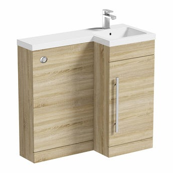 MySpace oak right handed unit including concealed cistern