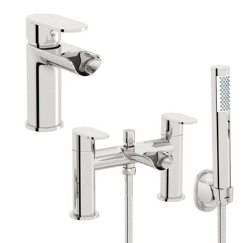 Eden basin and bath shower mixer tap pack