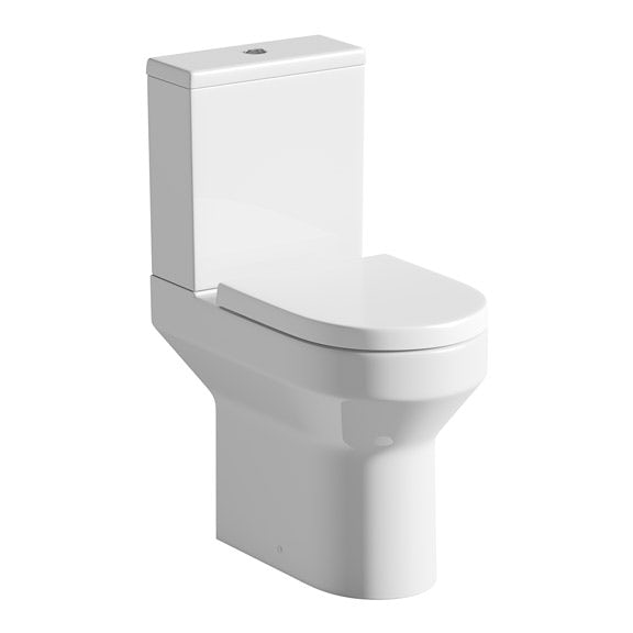 Orchard Wharfe comfort height close coupled toilet with soft close toilet seat with pan connector