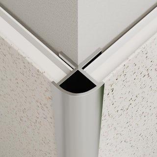 Multipanel Economy type W shiny silver external corner profile