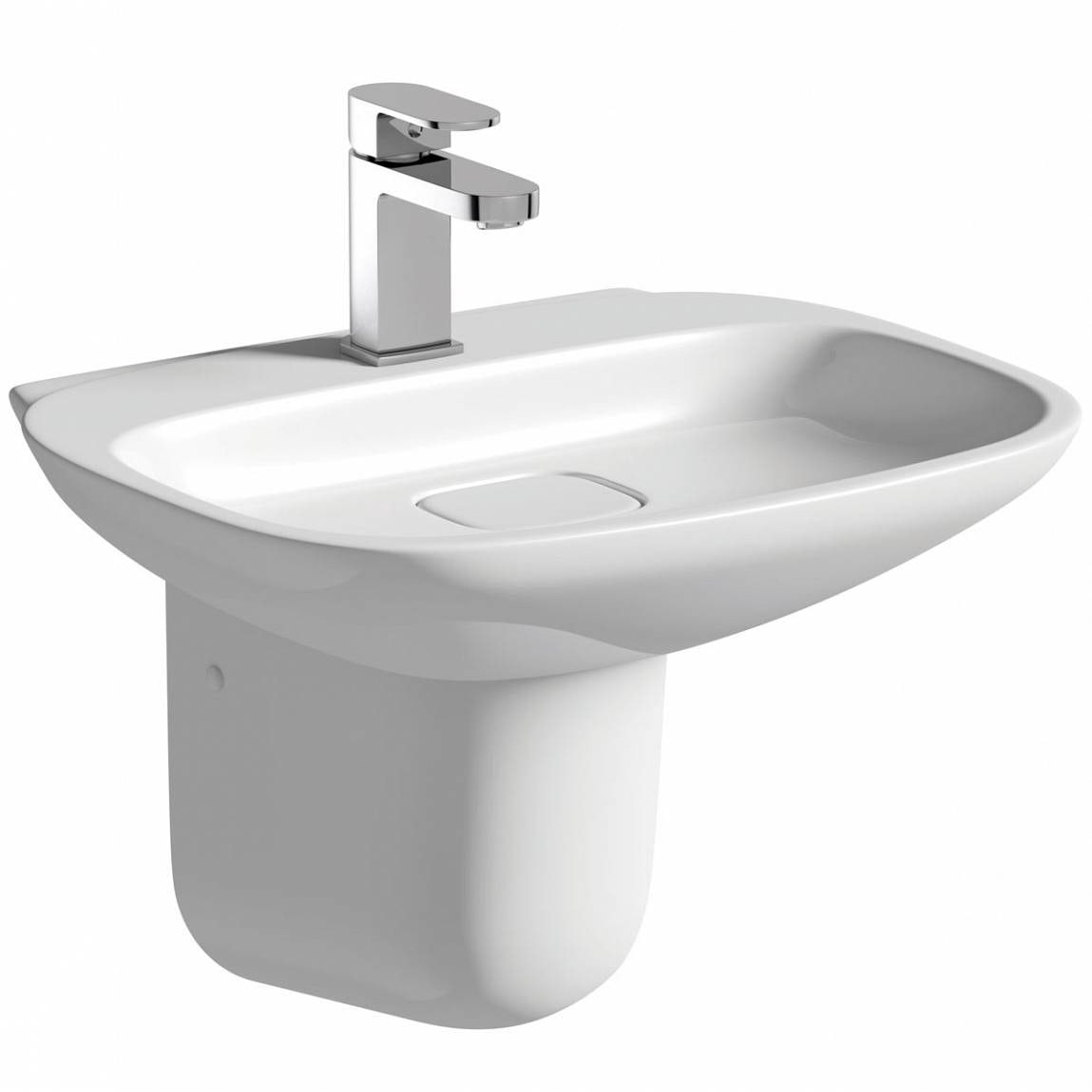Mode Heath 1 tap hole semi pedestal basin 500mm with waste