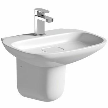 Mode Heath 1 tap hole semi pedestal basin 500mm
