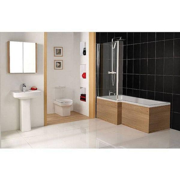 Boston 1700 Shower Bath Panel Oak Effect