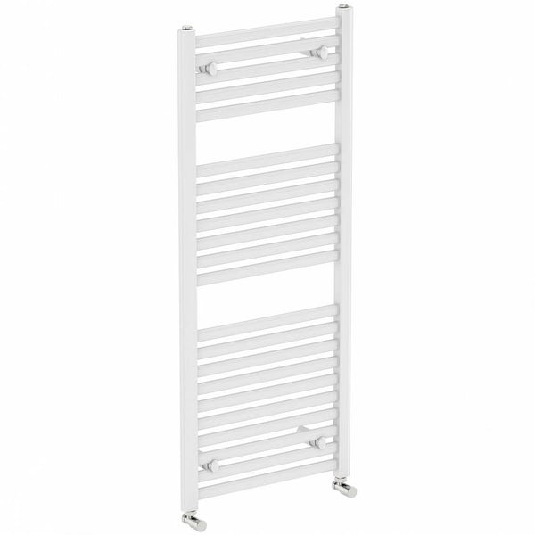 White Heated Towel Rail 1200 x 600