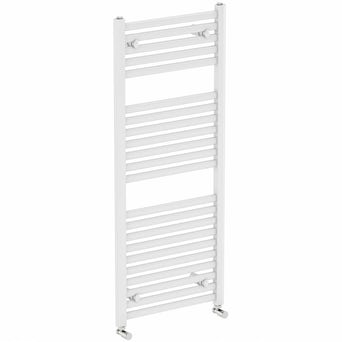 White Heated Towel Rail 1200 x 600 Special Offer
