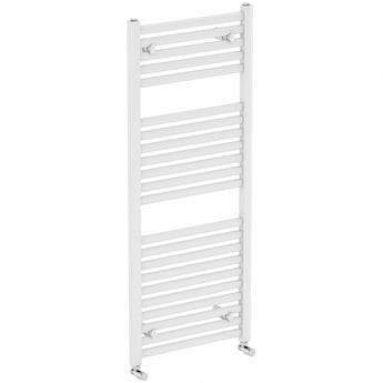 Orchard White heated towel rail 1200 x 600