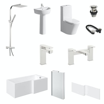 Mode Arte L-shaped right hand complete bathroom package