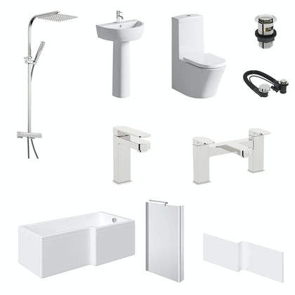 Mode Tate L-shaped right hand 1500 complete bathroom package