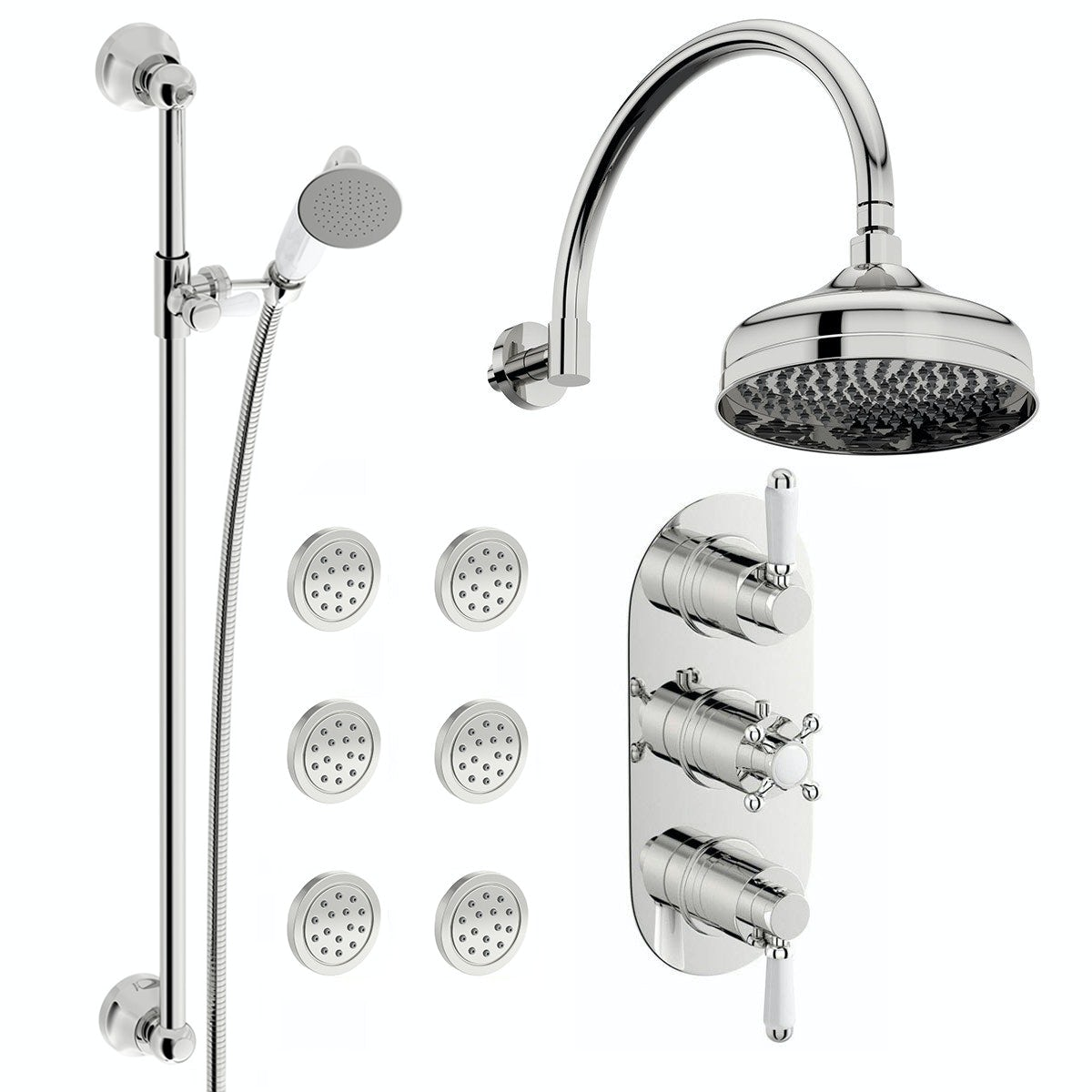 Coniston Complete Thermostatic Wall Shower Set